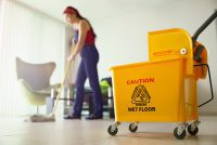 Image of woman mopping for Alpenglow Cleaning Construction Cleaning page